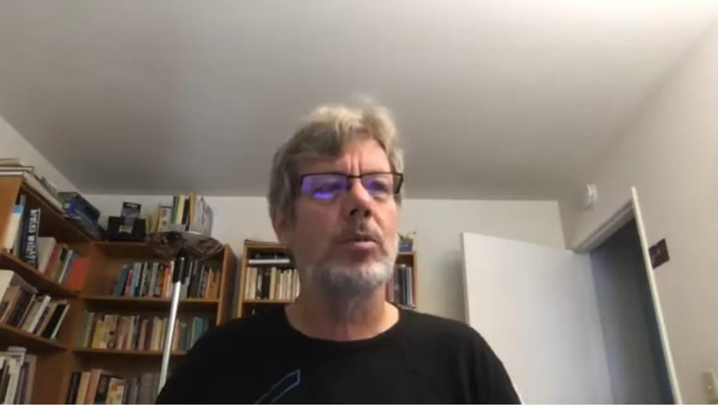 Guido van Rossum at the 2020 Virtual Python Core Development sprint kick-off - screenshot via YouTub