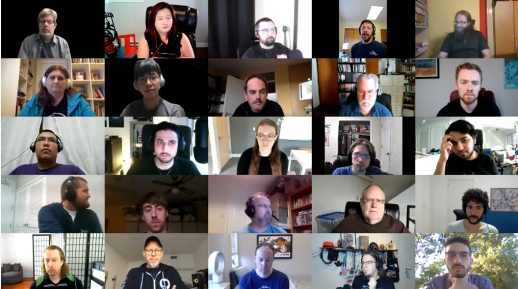 2020 Virtual Python Core Development Sprint - Wrap up - participants (screenshot via YouTube).png