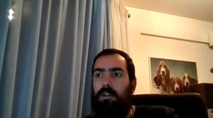 New core developer Lysandros Nikolao at 2020 Virtual Python Core Development sprint kick-off - screenshot via YouTube 2020