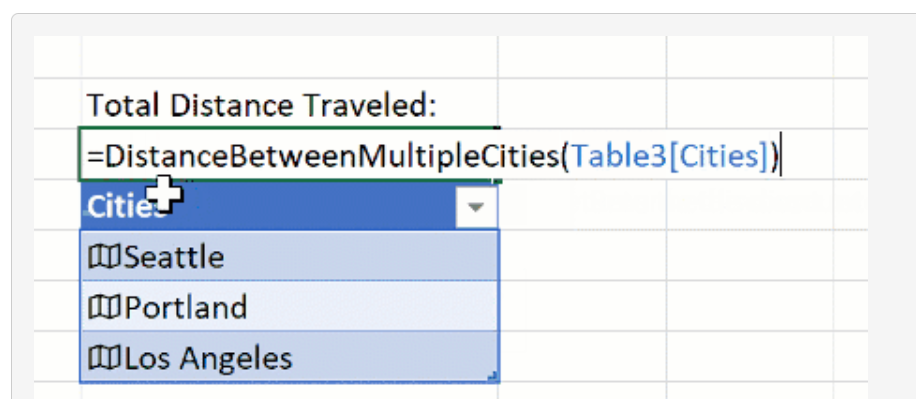 Screenshot from Microsoft Excel blog - Excel array as an argument in a LAMBDA function