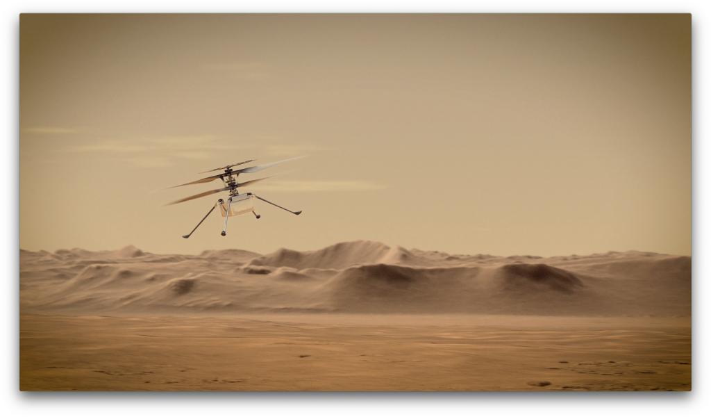 Artist's concept of NASA's Ingenuity Mars Helicopter - via NASA PIA23961