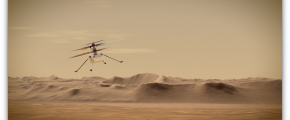 Artist's concept of NASA's Ingenuity Mars Helicopter - via NASA PIA23961