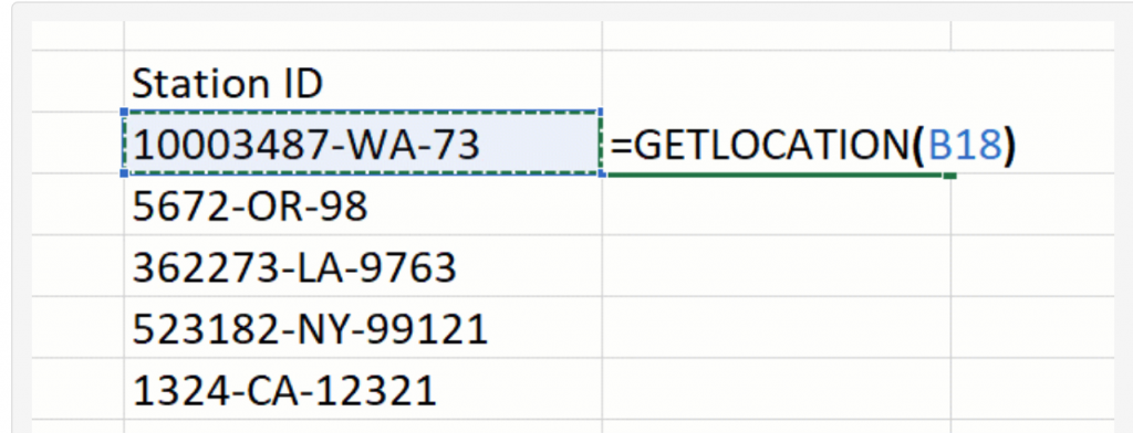 Screenshot from Microsoft Excel blog - LAMBDA function using Excel cell address as an argument