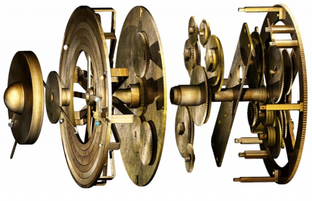 Proposed exploded diagram of Antikythera mechanism