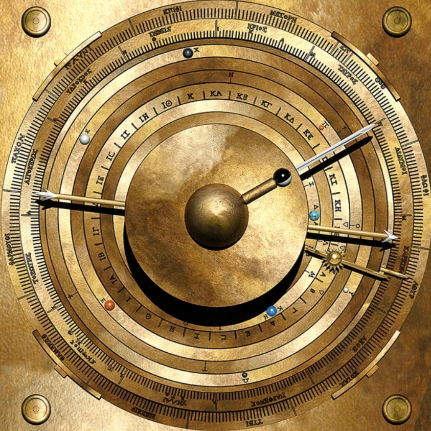 Computer model of proposed display for Antikythera mechanism (screenshot of image from paper, reduced)