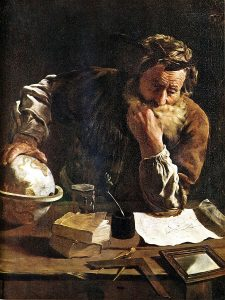 Archimedes painting (via Wikipedia)