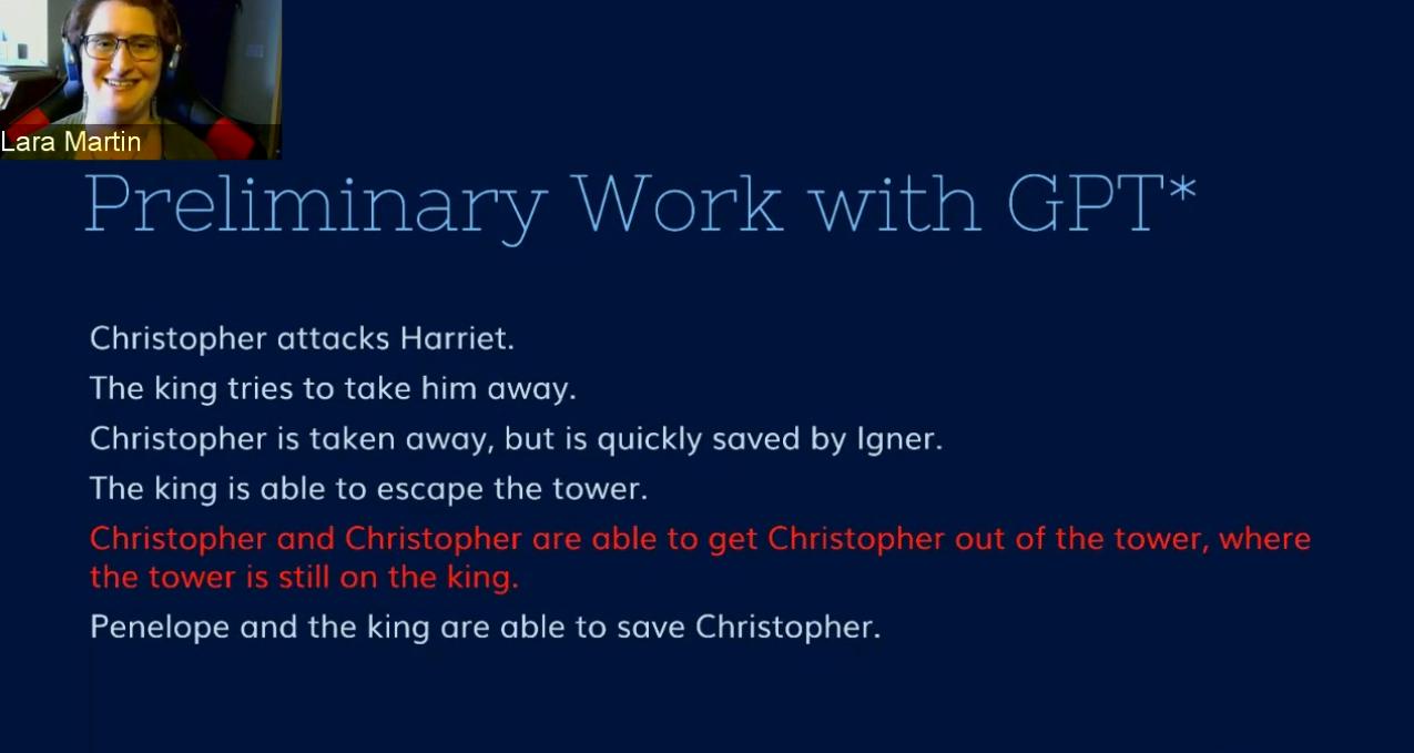 Lara Martin - Georgia Tech NLP Seminar Series in September 2020 - Christopher and the King story