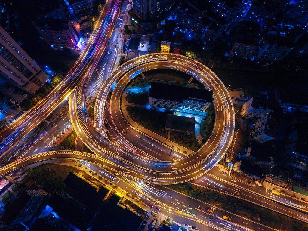 traffic at night