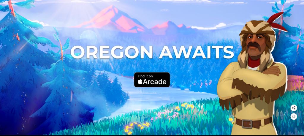 Screenshot from new Oregon Trail game official web page (Oregon awaits)