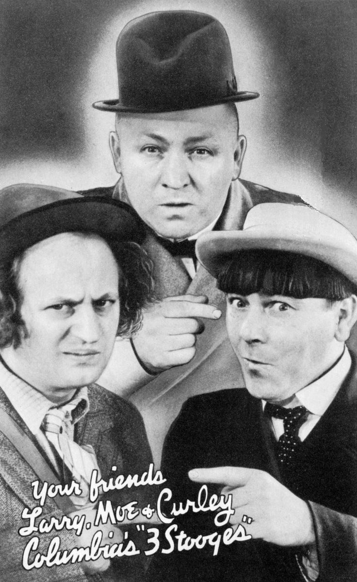 Three_Stooges_1937 (via Wikipedia) Public Domain - old advertising trade card.