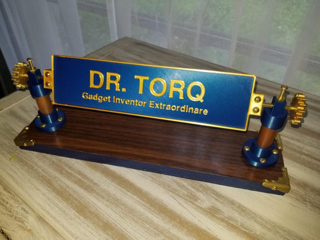 A homebuilt Dr. Torq nameplate.