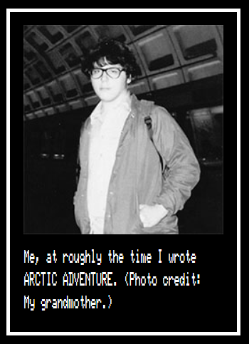 Screenshot from Harry McCracken's page at Arctic81 dot com for Arctic adventure