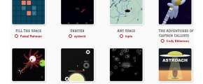 thumbnail images of js13kb game entries